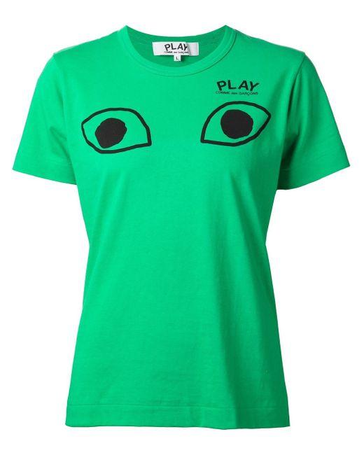 Футболка С Принтом Глаз Comme Des Garcons                                                                                                              зелёный цвет
