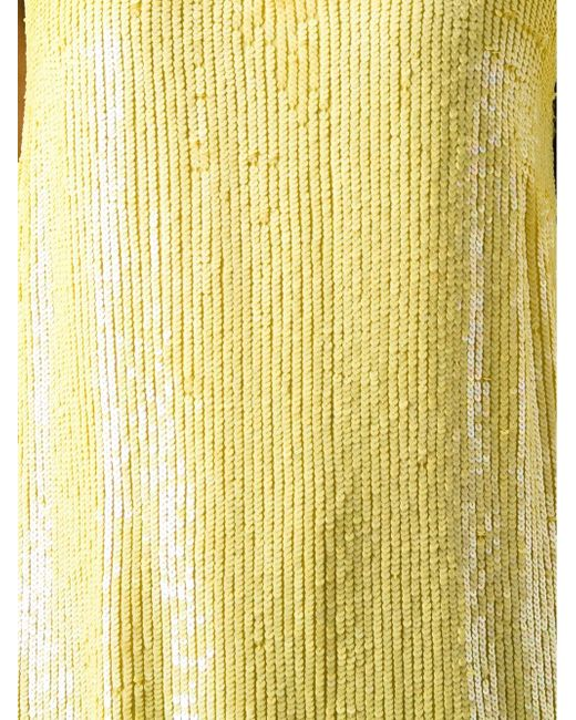 Топ D310532 Yolene Из Пайеток P.A.R.O.S.H.                                                                                                              желтый цвет