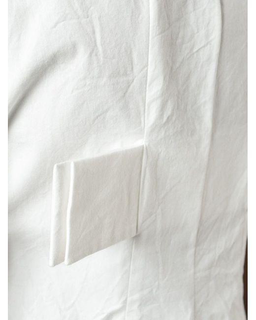 Топ С Передней Молнией Jil Sander                                                                                                              белый цвет