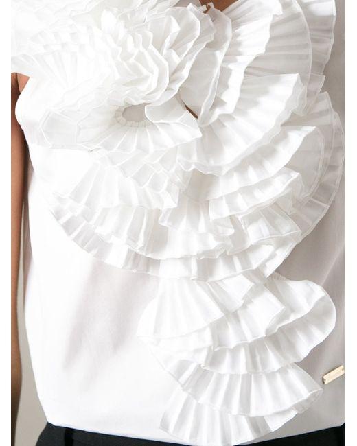 Топ С Оборками Dsquared2                                                                                                              белый цвет