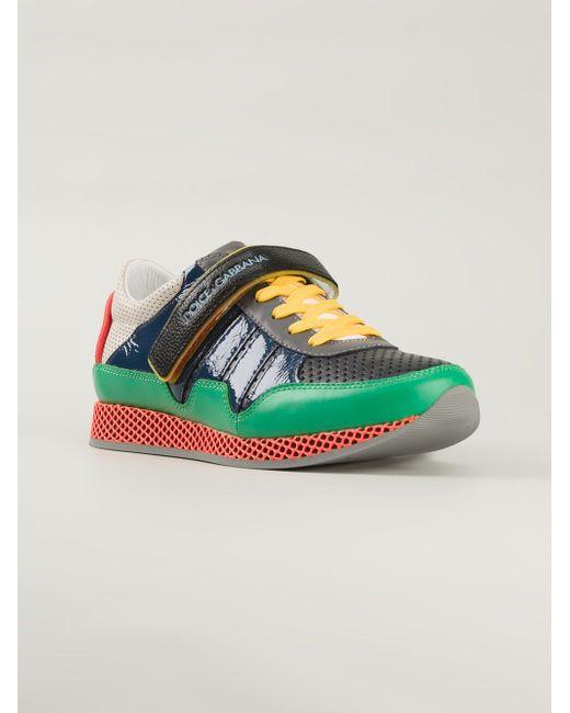 Кроссовки С Контрастными Панелями Dolce & Gabbana                                                                                                              зелёный цвет