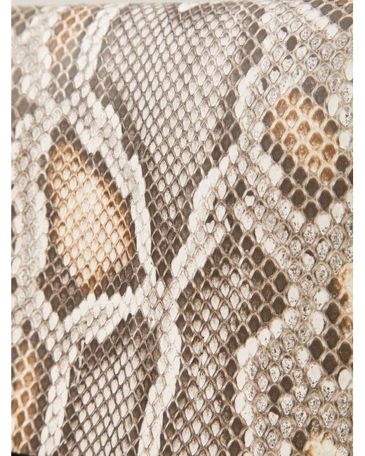 Small Snakeskin Print Clutch Calvin Klein Collection                                                                                                              коричневый цвет