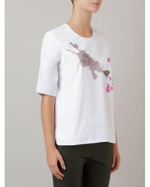 Print Blouse ANDREA MARQUES                                                                                                              белый цвет