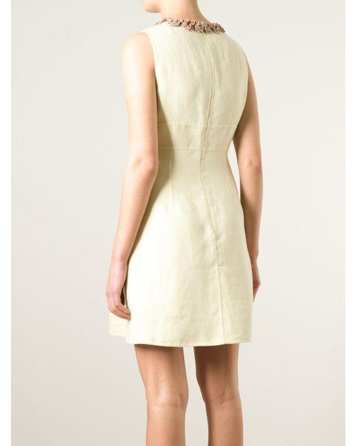 Платье С Декорированным Воротником Valentino                                                                                                              Nude & Neutrals цвет