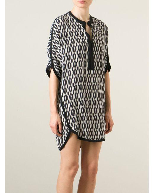 Короткое Платье В Принт Nude                                                                                                              чёрный цвет