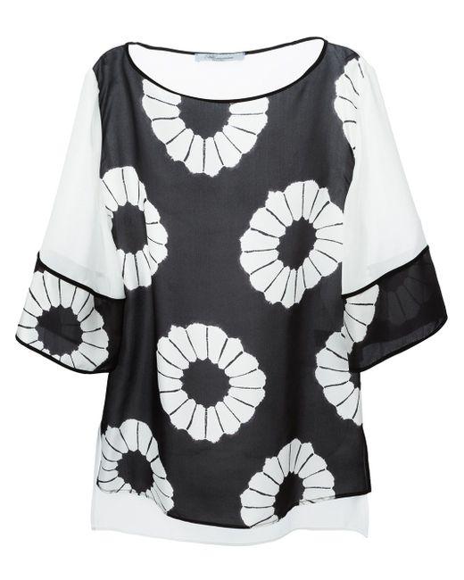 Блузка С Цветочным Принтом Blumarine                                                                                                              чёрный цвет