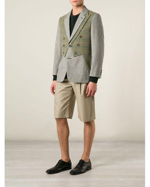 Пиджак С Двойным Воротником Comme Des Garcons                                                                                                              зелёный цвет
