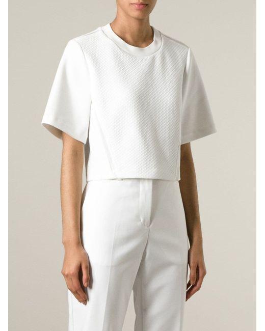 Свободный Стеганый Топ 3.1 Phillip Lim                                                                                                              белый цвет