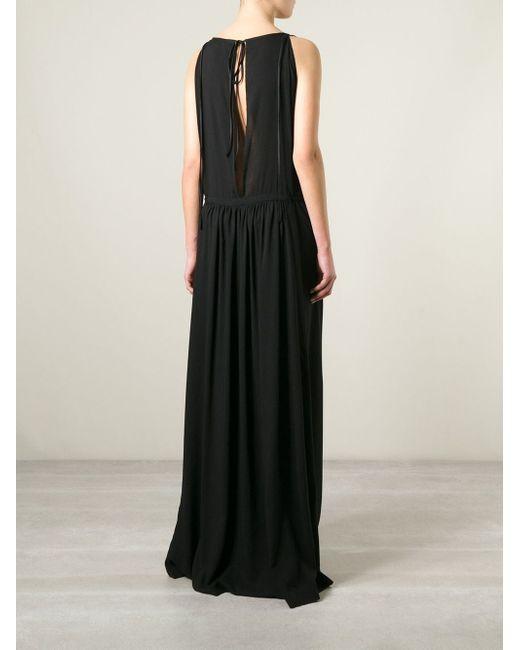 Длинное Платье С Поясом Ann Demeulemeester                                                                                                              чёрный цвет