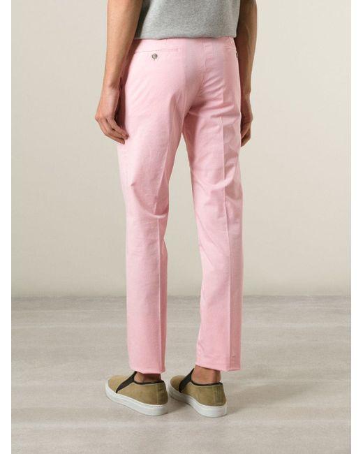 Классические Брюки-Чинос Pt05                                                                                                              розовый цвет