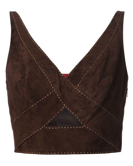 Укороченный Топ TAMARA MELLON                                                                                                              коричневый цвет