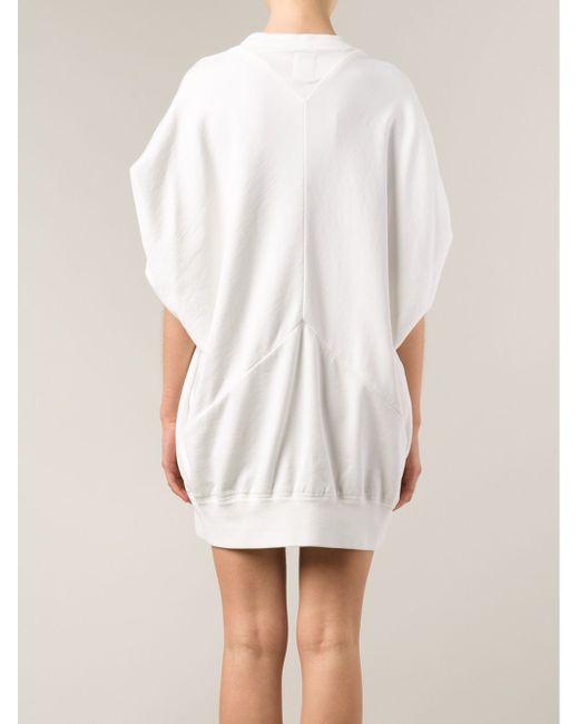 Платье-Толстовка С Принтом Bernhard Willhelm                                                                                                              белый цвет
