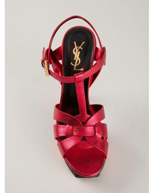Босоножки Tribute Saint Laurent                                                                                                              красный цвет
