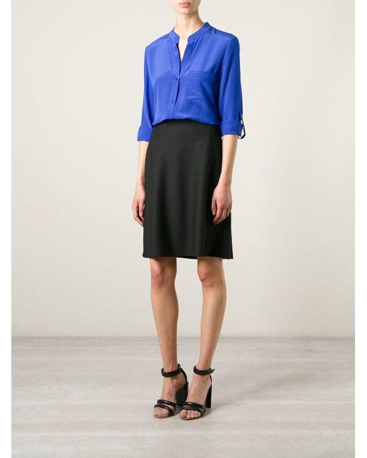 Рубашка Gilmore Diane Von Furstenberg                                                                                                              синий цвет