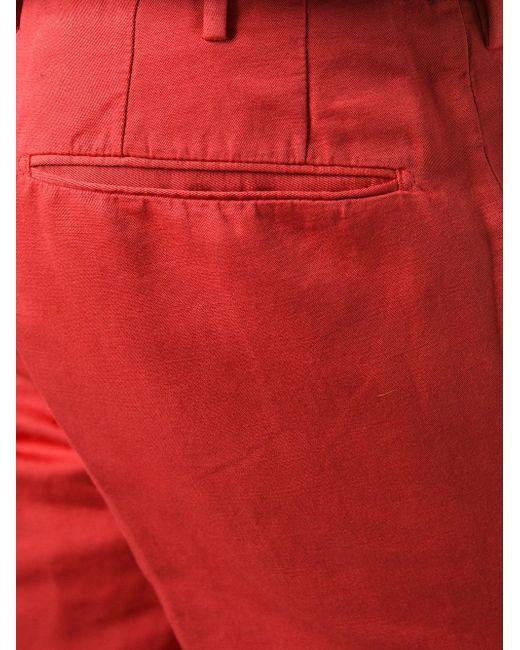 Брюки Кроя Слим Incotex                                                                                                              красный цвет
