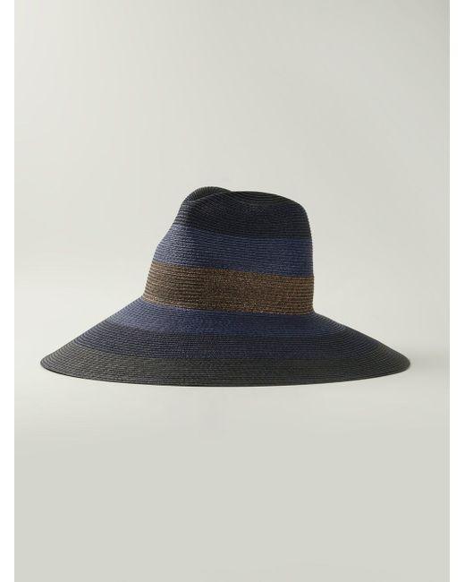 Полосатая Шляпа С Широкими Полями Tomas Maier                                                                                                              синий цвет
