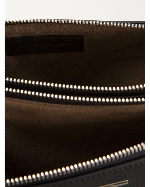 Сумка На Плечо С Застёжкой-Молнией Ermenegildo Zegna                                                                                                              чёрный цвет