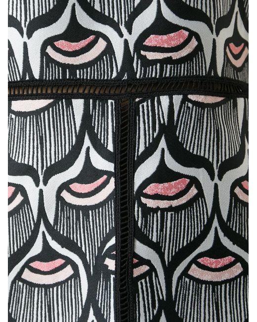 Кроткое Платье С Узором GIAMBA                                                                                                              чёрный цвет