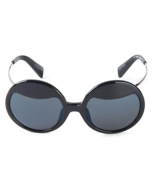 Солнцезащитные Очки В Круглой Оправе Yohji Yamamoto                                                                                                              чёрный цвет