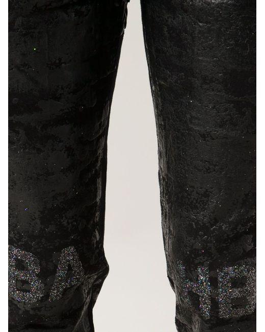 Джинсы С Отблеском Erosion HOOD BY AIR                                                                                                              чёрный цвет