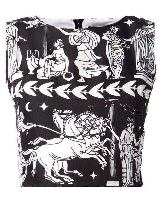 Укороченный Топ С Античным Принтом Ktz                                                                                                              чёрный цвет