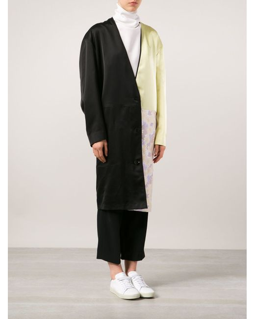 Пальто В Стиле Колор-Блок Maison Margiela                                                                                                              чёрный цвет