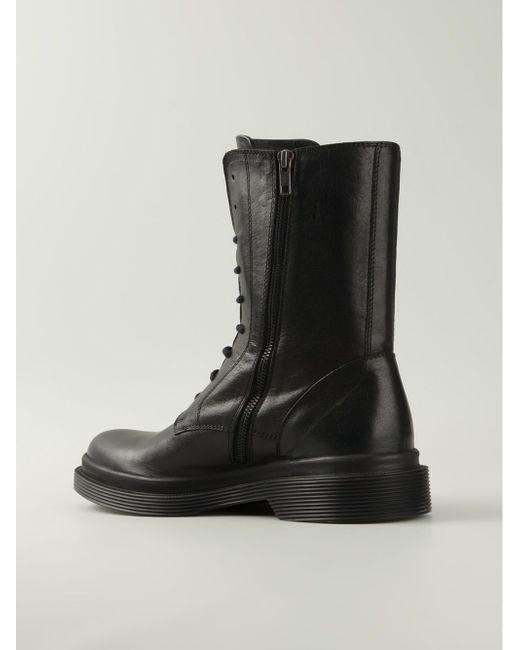 Ботинки На Шнуровке Ann Demeulemeester                                                                                                              чёрный цвет