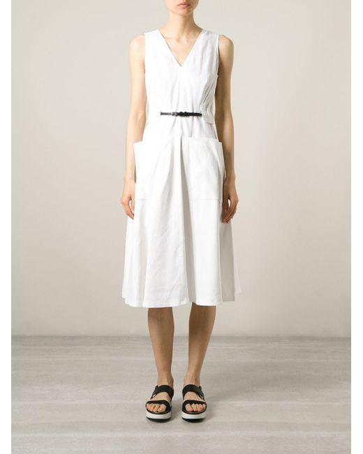 Расклешенное Платье С Накладными Карманами Piazza Sempione                                                                                                              белый цвет