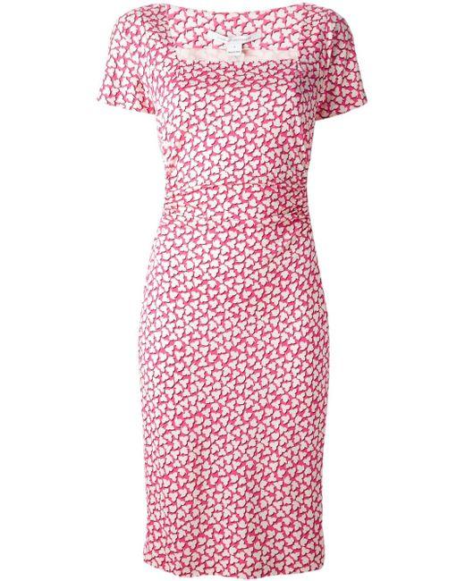 Платье Stasie С Квадратным Вырезом Diane Von Furstenberg                                                                                                              розовый цвет