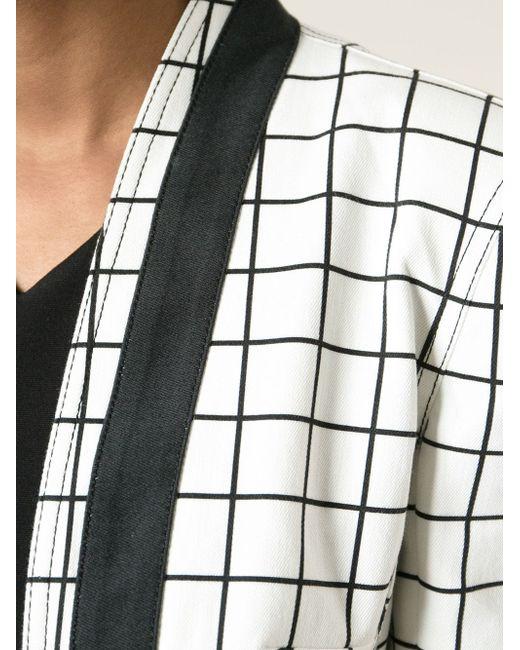 Укороченный Жакет В Клетку С Контрастной Окантовкой Balmain                                                                                                              белый цвет