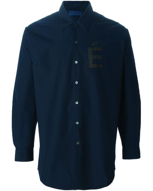 Рубашка С Принтом-Логотипом ETUDES                                                                                                              синий цвет