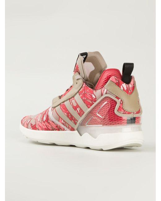 Кроссовки Zx 8000 Boost С Лиственным Принтом adidas Originals                                                                                                              розовый цвет