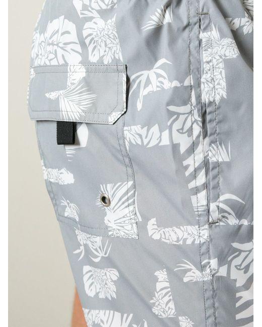 Шорты Для Плавания С Цветочным Принтом Paolo Pecora                                                                                                              серый цвет