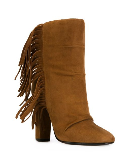 Ботинки С Бахромой Giuseppe Zanotti Design                                                                                                              коричневый цвет