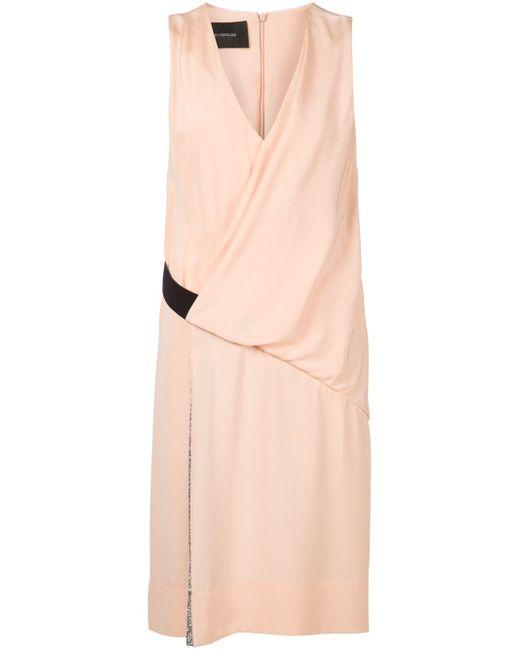 Драпированное Платье С Плиссированной Панелью Cedric Charlier                                                                                                              розовый цвет