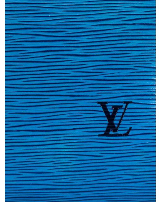 Фактурная Сумка-Тоут LOUIS VUITTON VINTAGE                                                                                                              синий цвет
