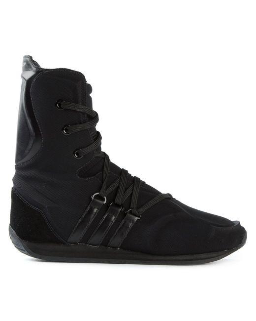 Кроссовки С Боксерском Стиле Adidas X Yohji Yamamoto                                                                                                              чёрный цвет