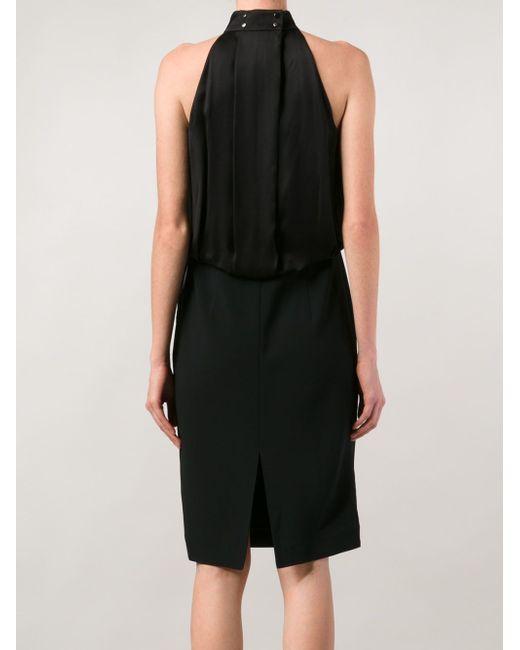 Драпированное Платье Без Рукавов Ports                                                                                                              чёрный цвет