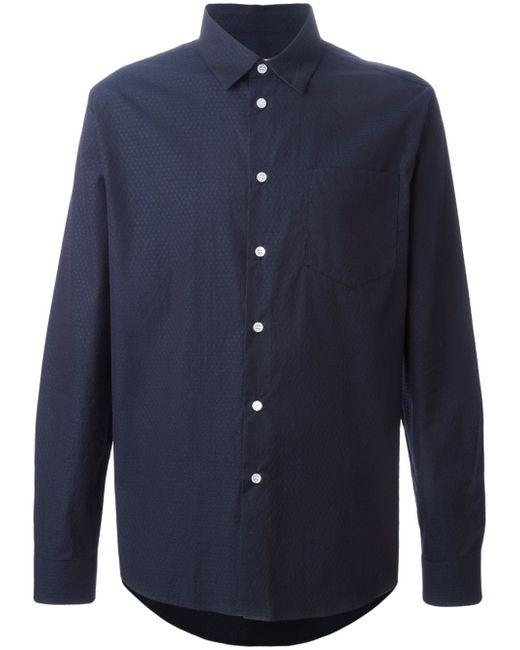Рубашка Huttnutt Soulland                                                                                                              синий цвет