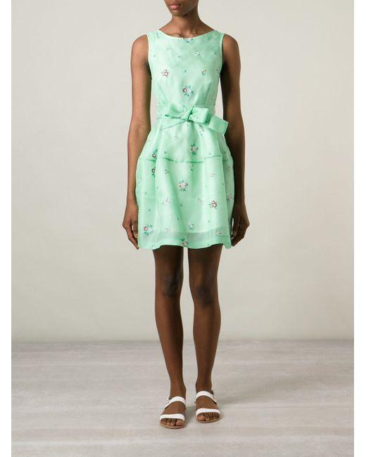 Платье Без Рукавов С Цветочной Вышивкой P.A.R.O.S.H.                                                                                                              зелёный цвет