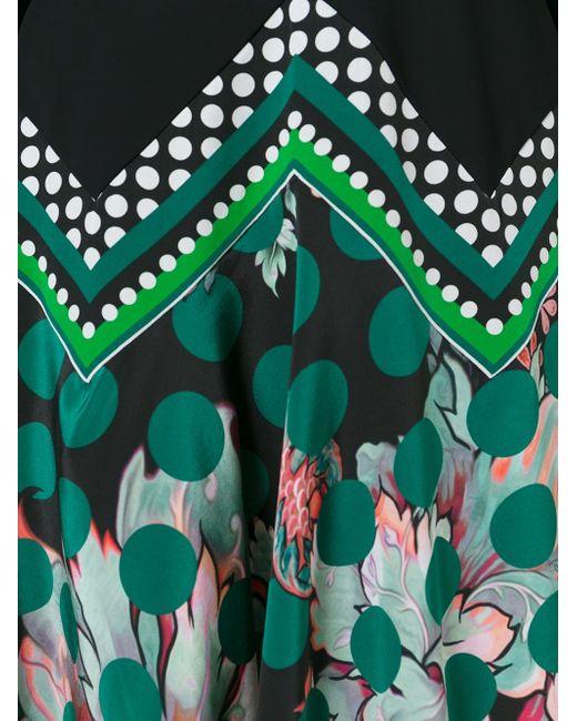 Платье C V-Образным Вырезом Roberto Cavalli                                                                                                              чёрный цвет