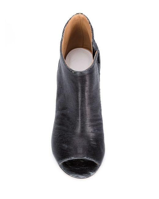 Сапоги По Щиколотку С Открытым Мыском Maison Margiela                                                                                                              чёрный цвет