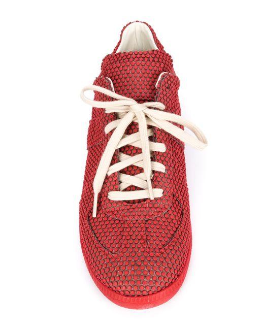 Кроссовки С Узором В Горох Maison Margiela                                                                                                              красный цвет