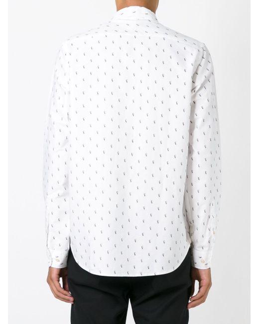 Рубашка С Мелким Принтом Paul Smith                                                                                                              белый цвет