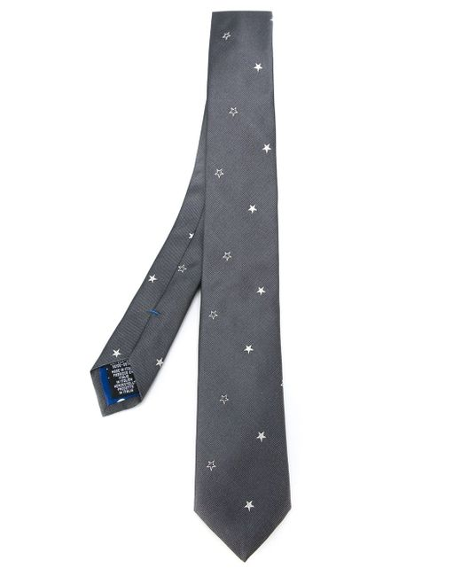 Embroidered Star Tie Paul Smith                                                                                                              серый цвет