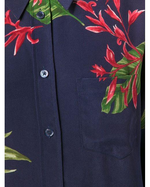 Рубашка Wailea С Цветочным Узором Equipment                                                                                                              синий цвет