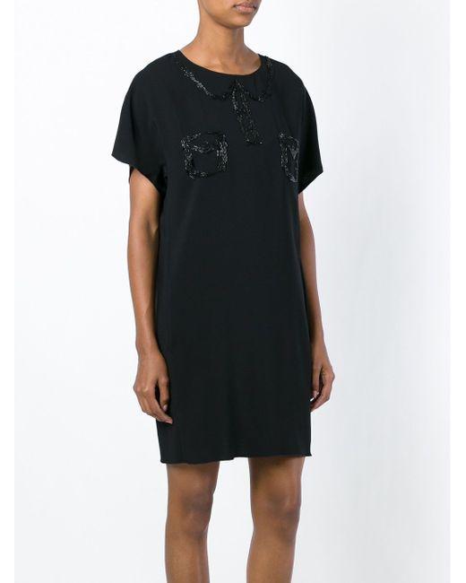 Платье С Вышивкой Бисером No21                                                                                                              чёрный цвет