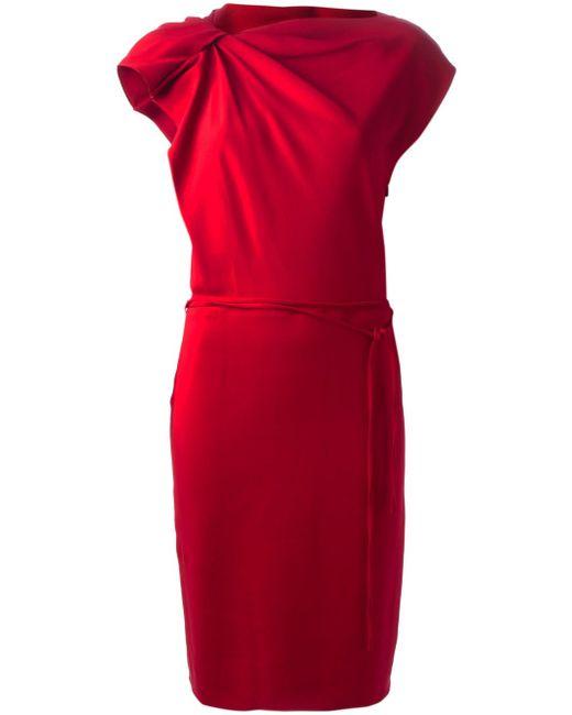 Платье С Присборенным Плечом Lanvin                                                                                                              красный цвет