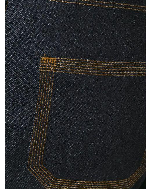 Джинсы Расклешенные Ниже Колена Valentino                                                                                                              синий цвет