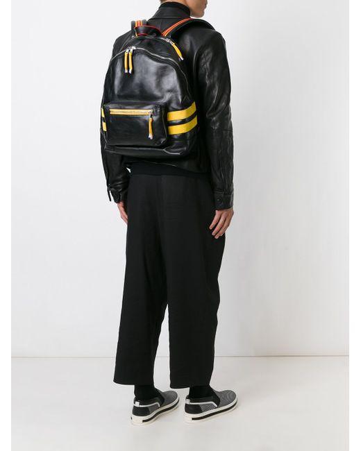 Полосатый Рюкзак Balmain                                                                                                              чёрный цвет